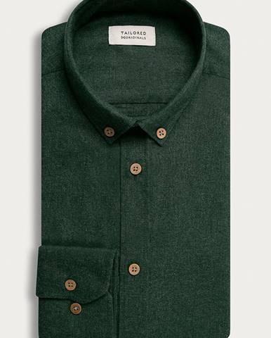 Zelená košeľa Tailored & Originals