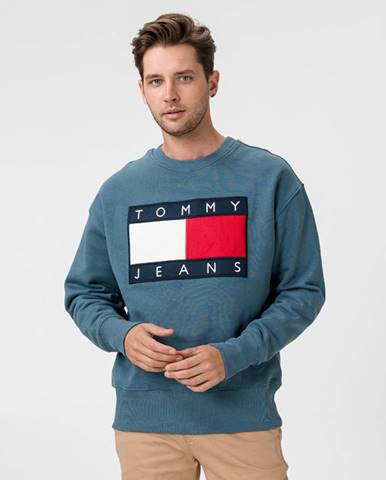 Modrá bunda bez kapucne Tommy Jeans
