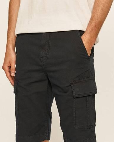 Tmavomodré kraťasy Guess Jeans