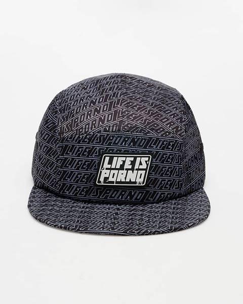 Čierna čiapka LIFE IS PORNO
